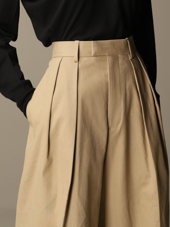 Pantalón Bottega Veneta: Pantalones cortos mujer Bottega Veneta beige 5