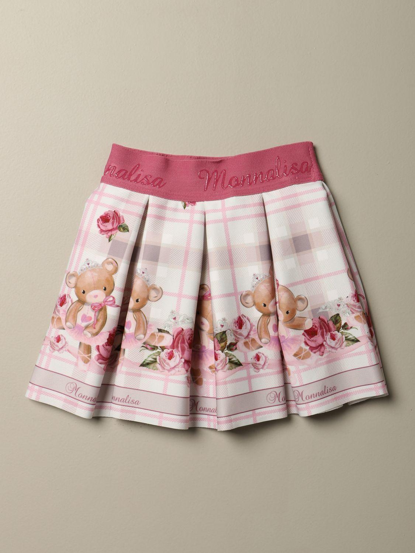 半身裙 Monnalisa: 半身裙 儿童 Monnalisa 奶油黄 1
