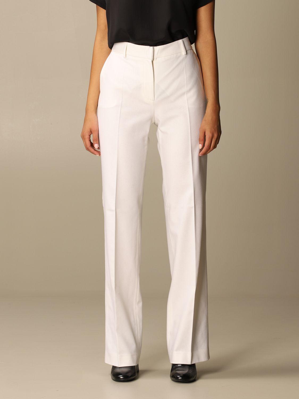 Pantalone Alberta Ferretti: Pantalone Chino Alberta Ferretti in misto lana e cashmere bianco 1