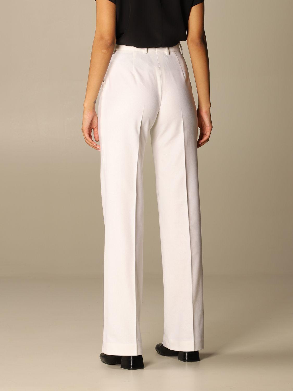 Pantalone Alberta Ferretti: Pantalone Chino Alberta Ferretti in misto lana e cashmere bianco 3