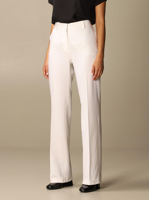 Pantalone Alberta Ferretti: Pantalone Chino Alberta Ferretti in misto lana e cashmere bianco 4