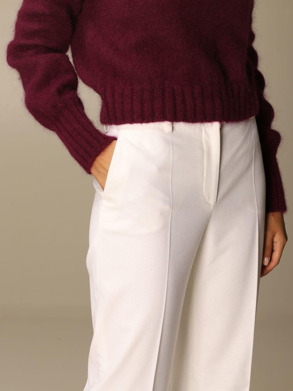Pantalone Alberta Ferretti: Pantalone Chino Alberta Ferretti in misto lana e cashmere bianco 5