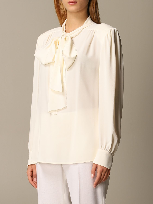 Chemise Alberta Ferretti: Chemise femme Alberta Ferretti blanc 4