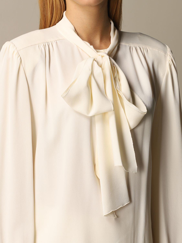 Chemise Alberta Ferretti: Chemise femme Alberta Ferretti blanc 5