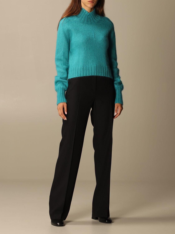 Pantalone Alberta Ferretti: Pantalone Chino Alberta Ferretti in misto viscosa nero 2