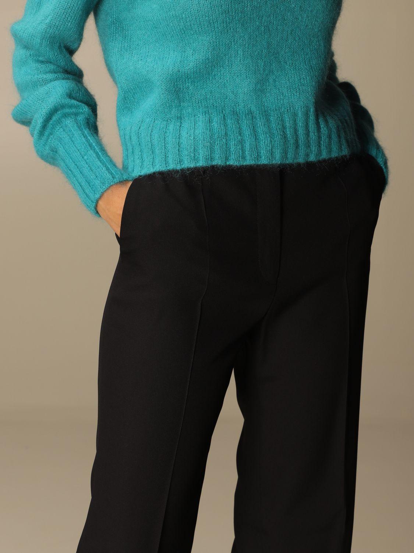 Pantalone Alberta Ferretti: Pantalone Chino Alberta Ferretti in misto viscosa nero 5
