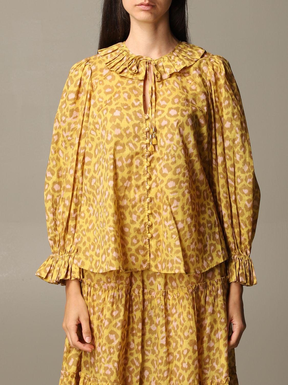 衬衫 Zimmermann: 衬衫 女士 Zimmermann 柠檬黄 1