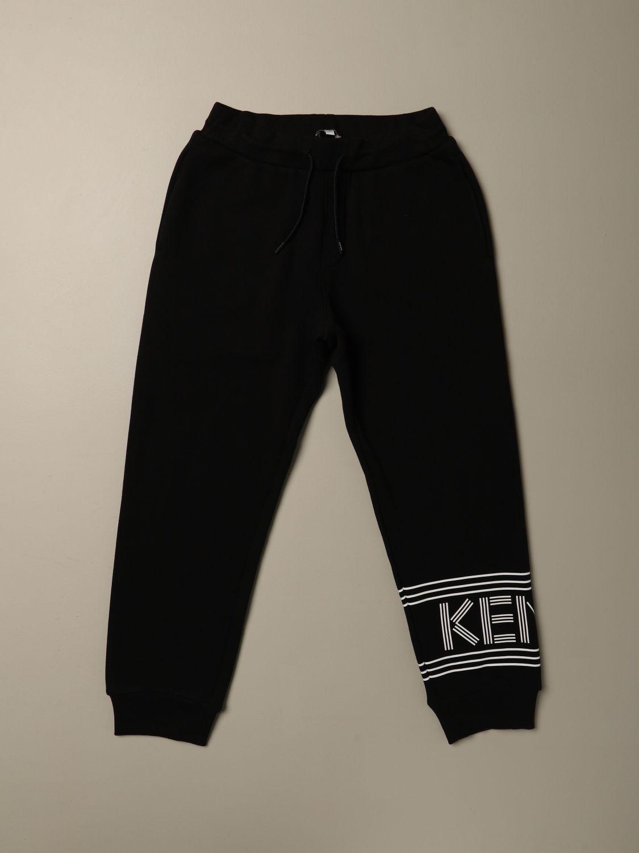 Pantalone Kenzo Junior: Pantalone Jogging Kenzo Junior con logo nero 1