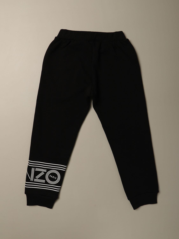 Pantalone Kenzo Junior: Pantalone Jogging Kenzo Junior con logo nero 2