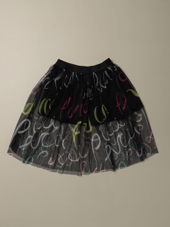 Gonna Emilio Pucci: Gonna Emilio Pucci con lettering multicolor nero 1