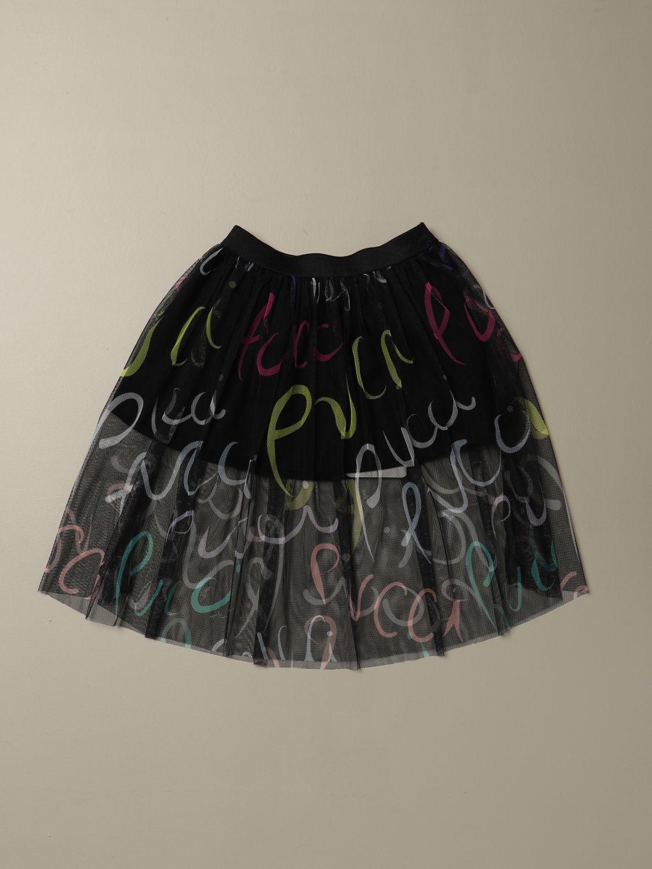 Gonna Emilio Pucci: Gonna Emilio Pucci con lettering multicolor nero 2