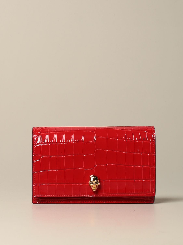 Сумка через плечо Alexander Mcqueen: Наплечная сумка Женское Alexander Mcqueen красный 1