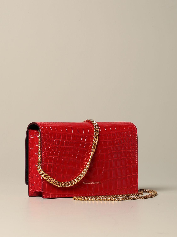 Сумка через плечо Alexander Mcqueen: Наплечная сумка Женское Alexander Mcqueen красный 3