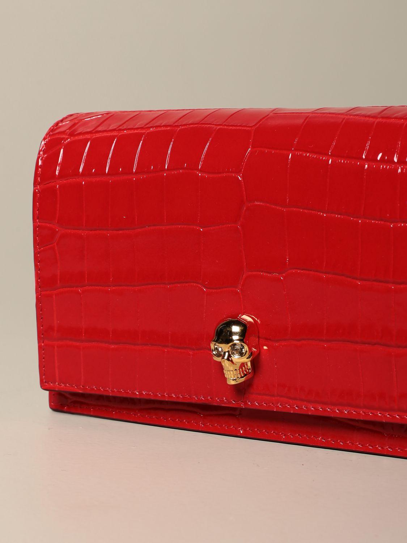 Сумка через плечо Alexander Mcqueen: Наплечная сумка Женское Alexander Mcqueen красный 4