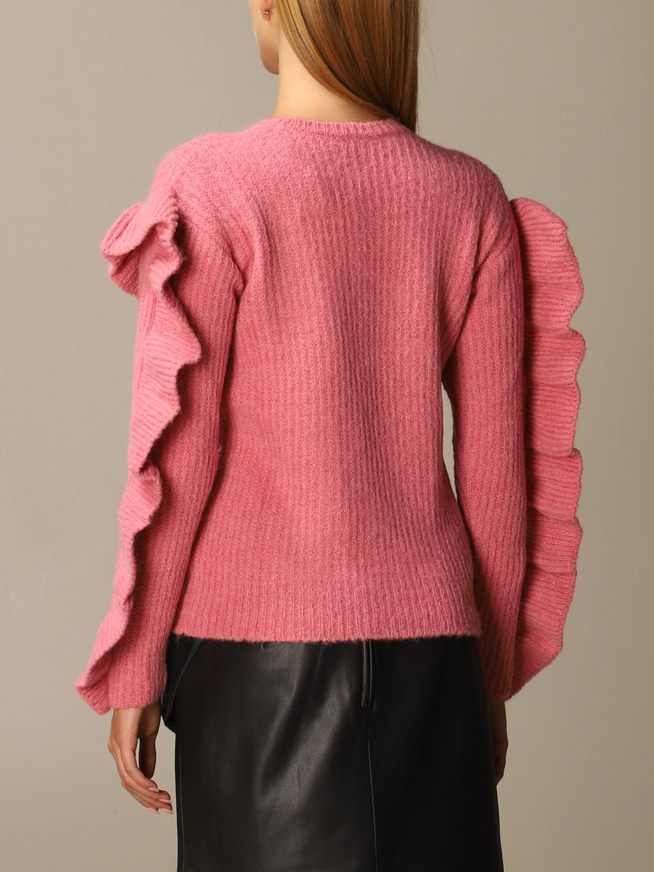 Maglia Red Valentino: Maglione Red Valentino in misto Alpaca e lana con rouches rosa 3