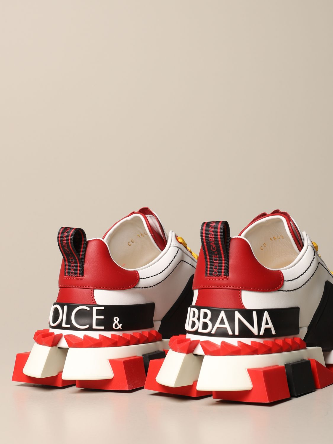 Sneakers Dolce & Gabbana: Dolce & Gabbana Super King sneakers in leather with big logo fa05 3