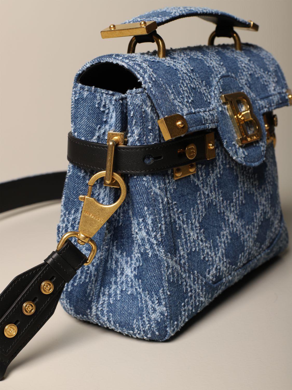 Handbag Balmain: Handbag women Balmain denim 4