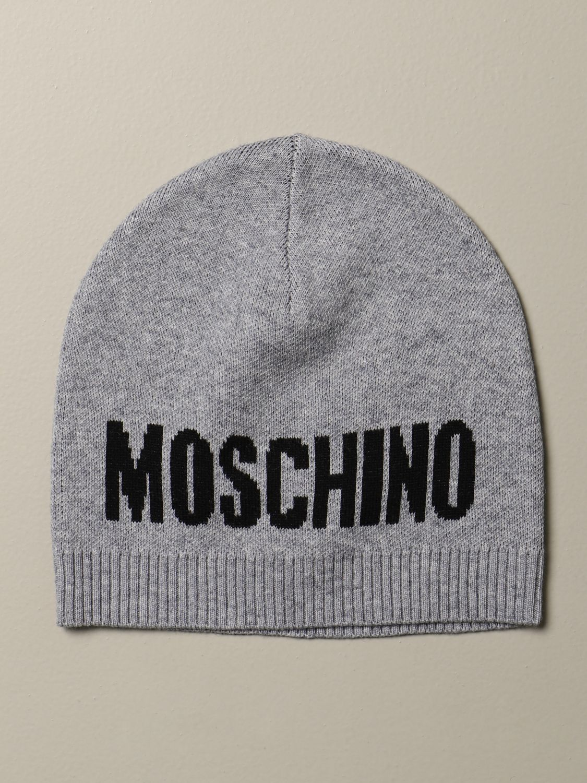 Hat Moschino Kid: Moschino Kid beanie hat grey 1