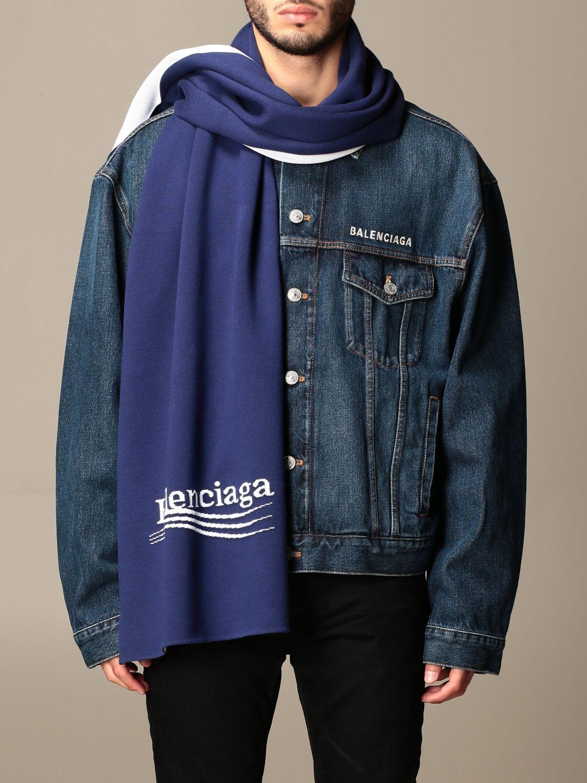 Écharpe Balenciaga: écharpe homme Balenciaga bleu 1