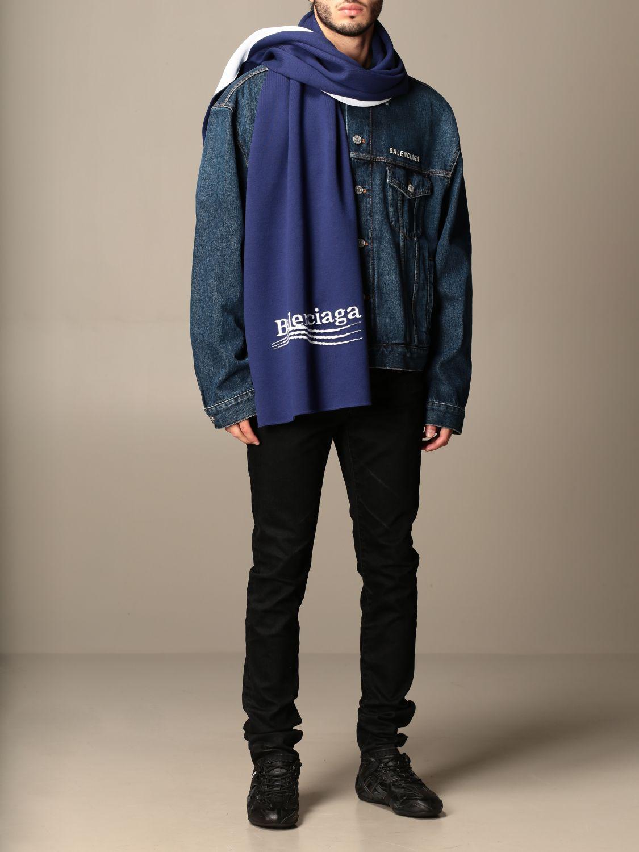Écharpe Balenciaga: écharpe homme Balenciaga bleu 2