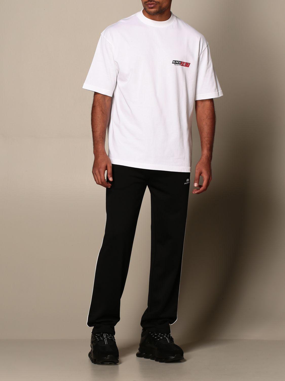 T-shirt Balenciaga: T-shirt Balenciaga in cotone con logo BLNCG 24/7 News bianco 2
