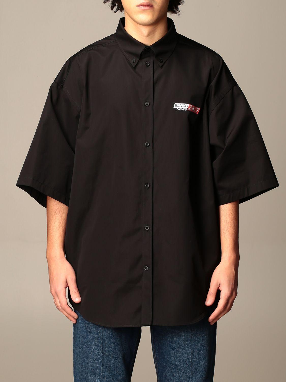 Shirt Balenciaga: Shirt men Balenciaga black 1