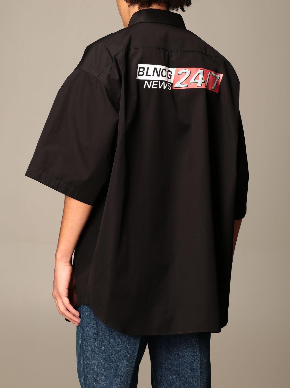 Shirt Balenciaga: Shirt men Balenciaga black 3