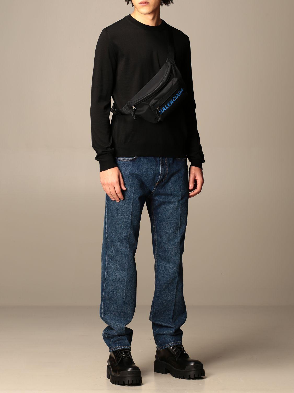 Sweatshirt Balenciaga: Balenciaga crewneck sweater with back logo black 2