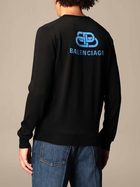 Sweatshirt Balenciaga: Balenciaga crewneck sweater with back logo black 3