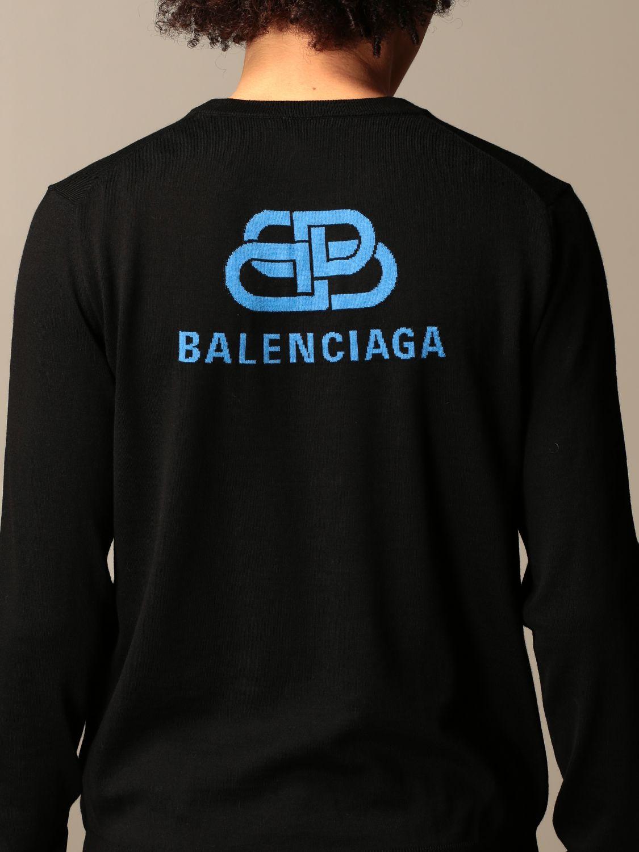 Sweatshirt Balenciaga: Balenciaga crewneck sweater with back logo black 5