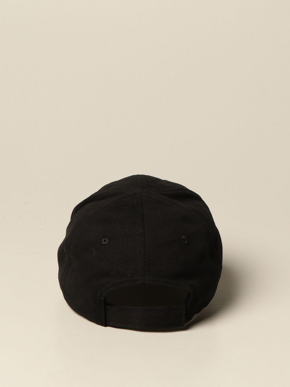 Hat Balenciaga: Balenciaga baseball cap with logo black 3