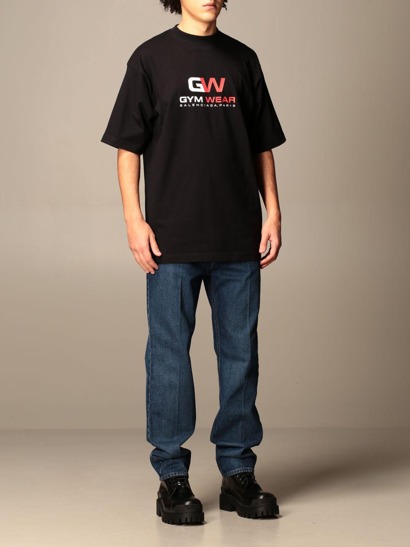 T-shirt Balenciaga: Balenciaga t-shirt with gym wear logo black 2