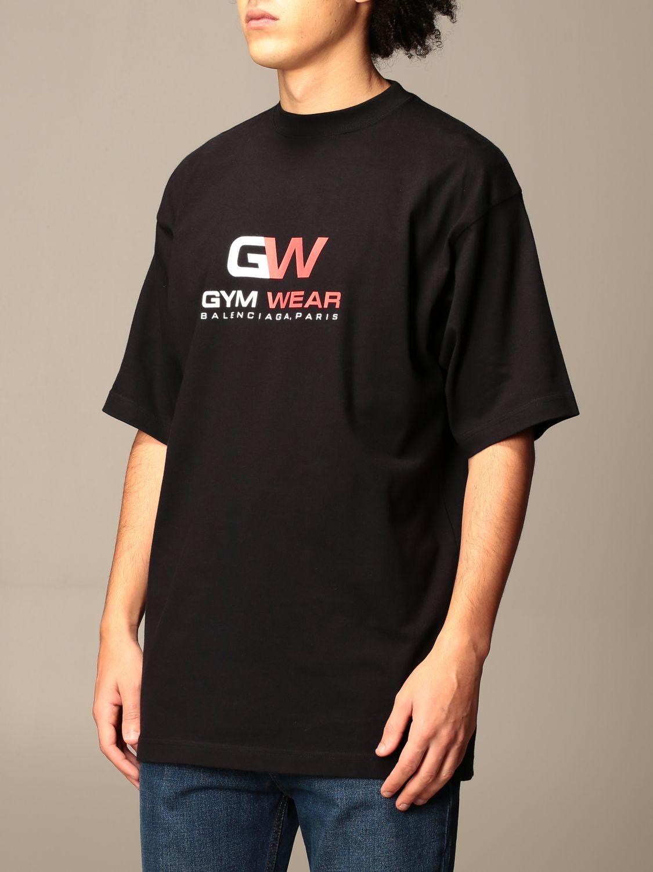 T-shirt Balenciaga: Balenciaga t-shirt with gym wear logo black 4