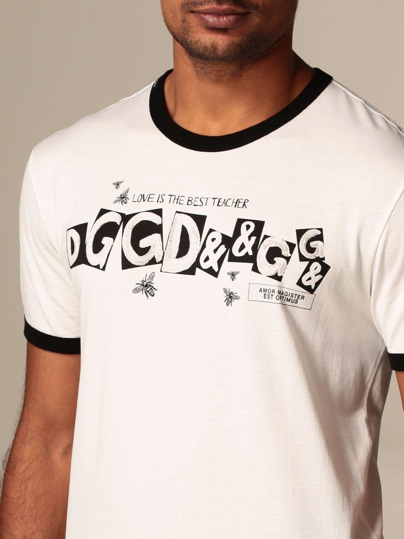 Футболка Dolce & Gabbana: Футболка Мужское Dolce & Gabbana сливки 4
