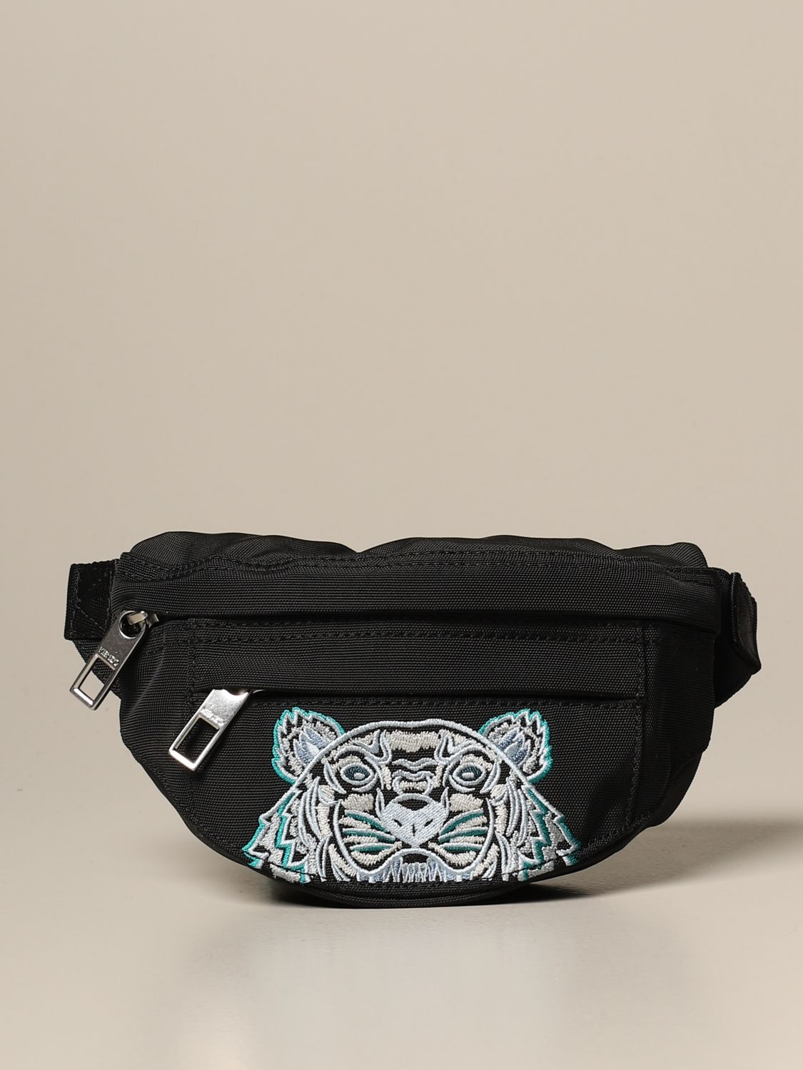 Belt bag Kenzo: Kenzo belt bag in canvas with Tiger Kenzo Paris logo black 1