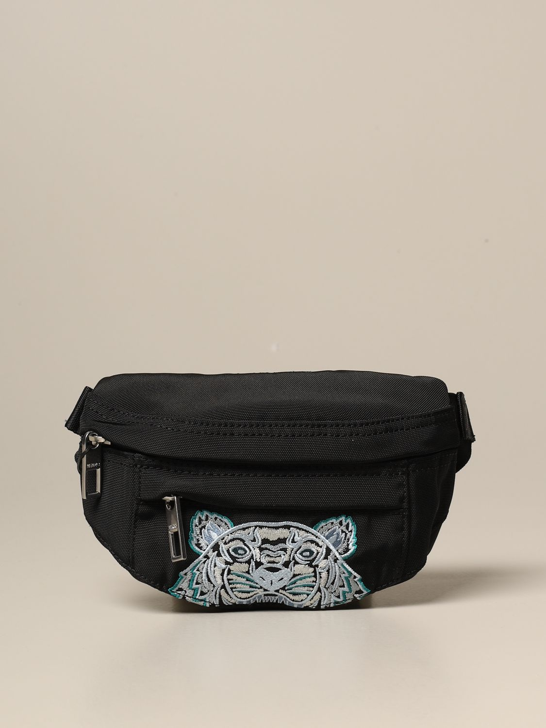 Belt bag Kenzo: Kenzo belt bag in canvas with Tiger Kenzo Paris logo black 1 1