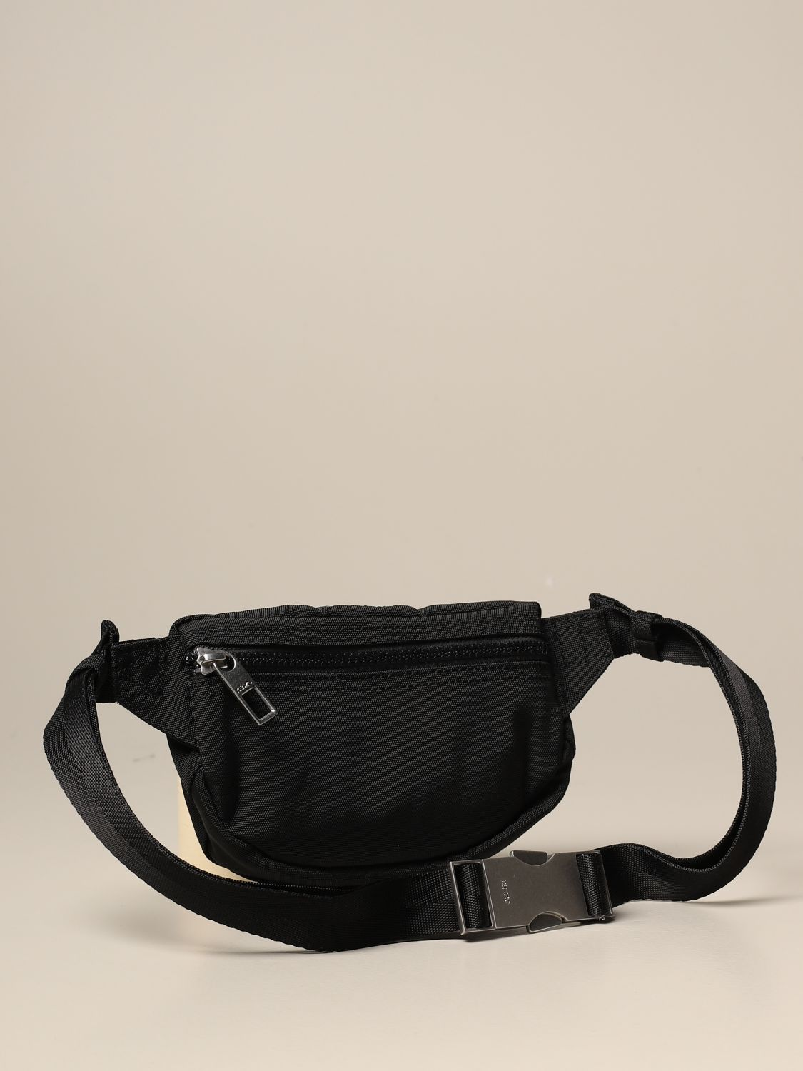 Belt bag Kenzo: Kenzo belt bag in canvas with Tiger Kenzo Paris logo black 1 2
