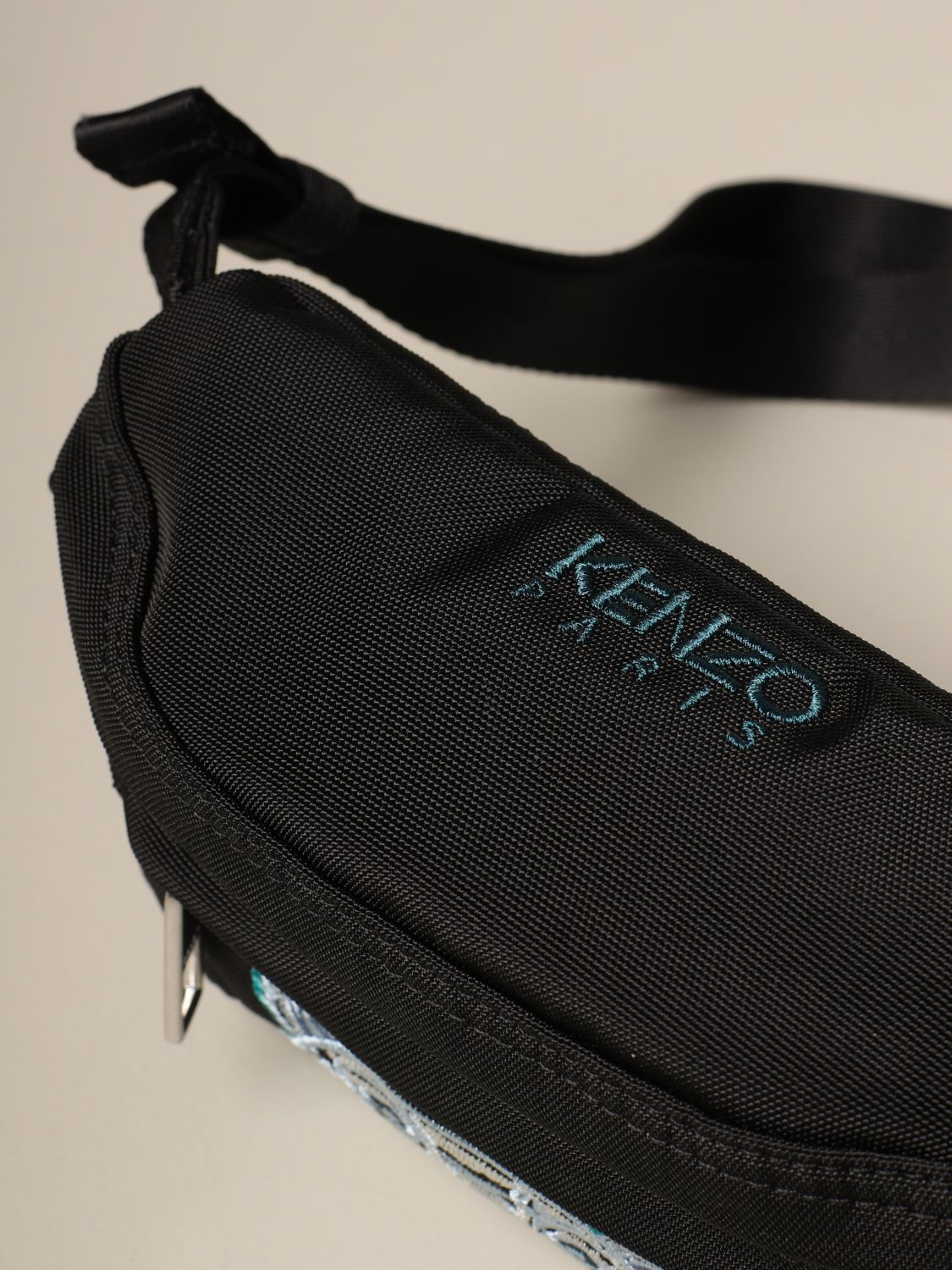 Belt bag Kenzo: Kenzo belt bag in canvas with Tiger Kenzo Paris logo black 1 3