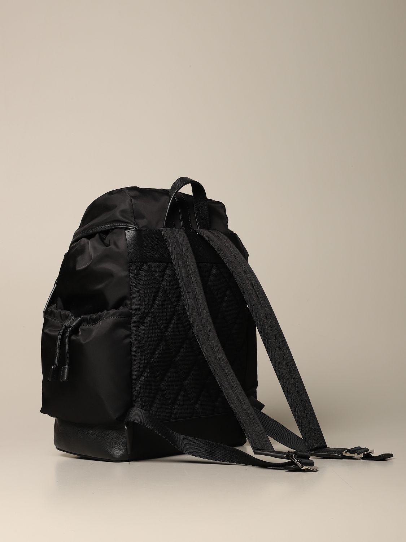 Zaino Burberry: Zaino Burberry in eco-nylon sostenibile con finiture in pelle nero 2