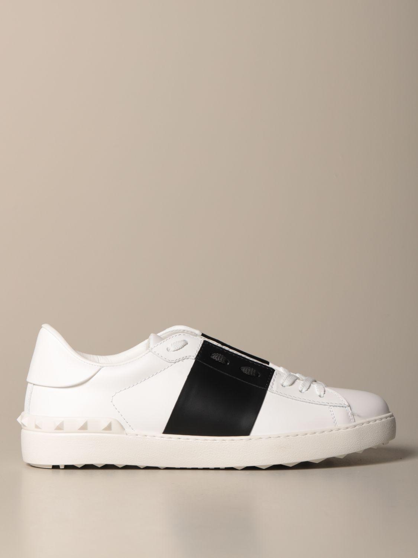 Sneakers Valentino Garavani: Valentino Garavani Open sneakers in leather with band white 1