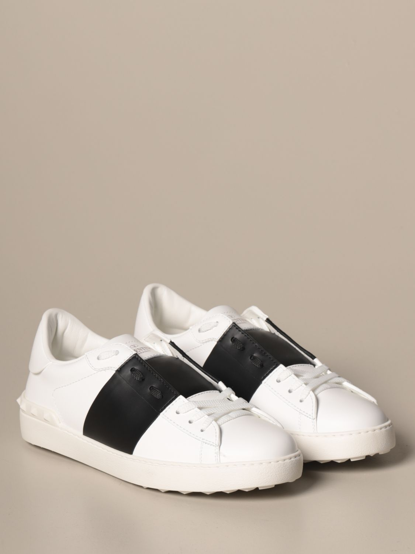 Sneakers Valentino Garavani: Valentino Garavani Open sneakers in leather with band white 2