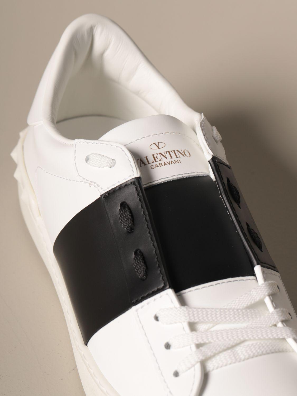 Sneakers Valentino Garavani: Valentino Garavani Open sneakers in leather with band white 4