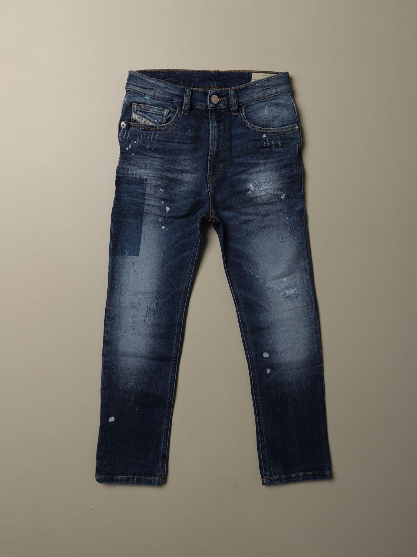 Pantalone Diesel: Jeans Diesel in denim con micro rotture blue 1