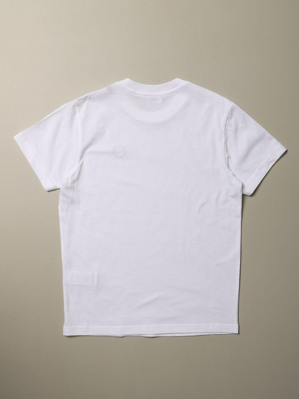 T-shirt Diesel: T-shirt Diesel a girocollo in cotone con logo bianco 2