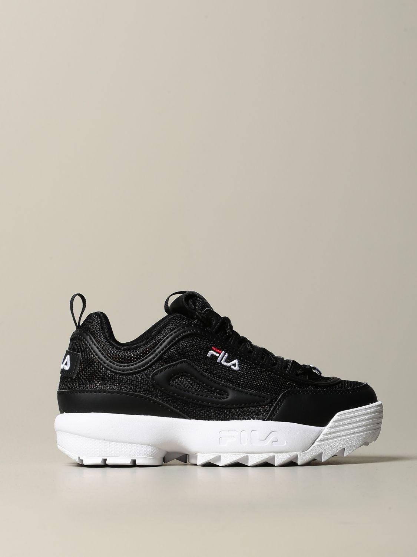 鞋履 Fila: 鞋履 儿童 Fila 黑色 1