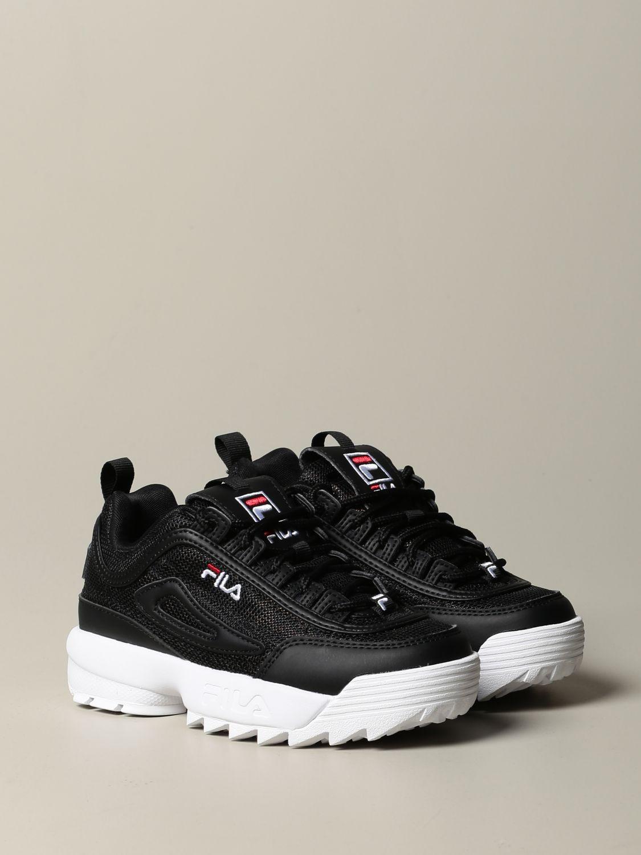 鞋履 Fila: 鞋履 儿童 Fila 黑色 2