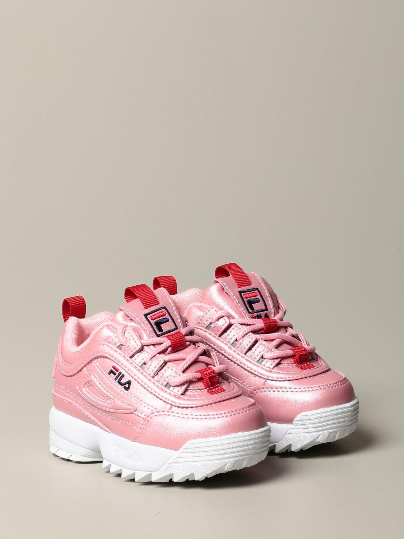 鞋履 Fila: 鞋履 儿童 Fila 粉色 2