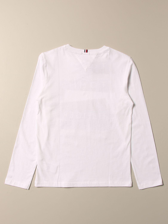 T-shirt Tommy Hilfiger: T-shirt Tommy Hilfiger con logo bianco 2