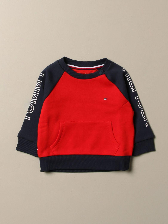 Sweater Tommy Hilfiger: Tommy Hilfiger sweatshirt with side logo red 1