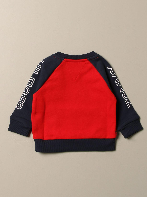 Sweater Tommy Hilfiger: Tommy Hilfiger sweatshirt with side logo red 2